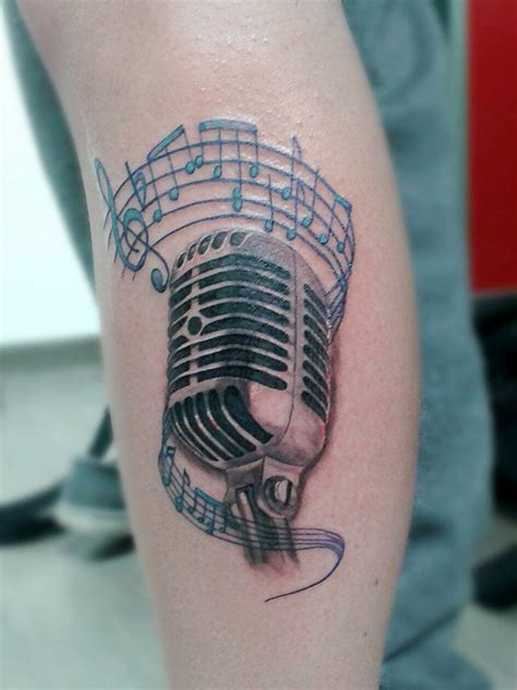 microphone tattoo with music notes microphone with music notes tattoos www imgkid com the