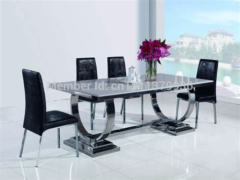 Dining Table For Living Room New Fashion Living Room Furniture Stainless Steel Dining Table Modern Dining Table 801t Jpg