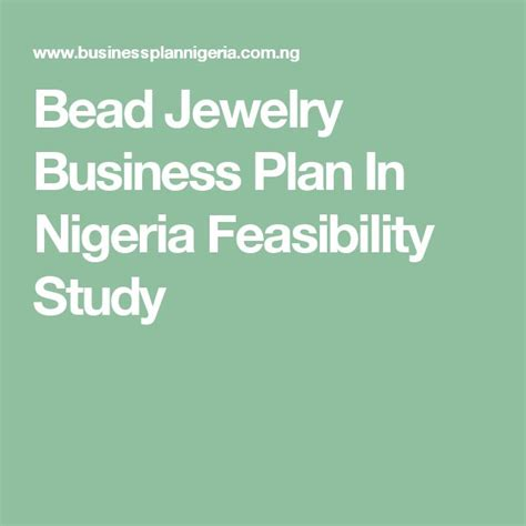 Jewelry Business Plan Template Free
