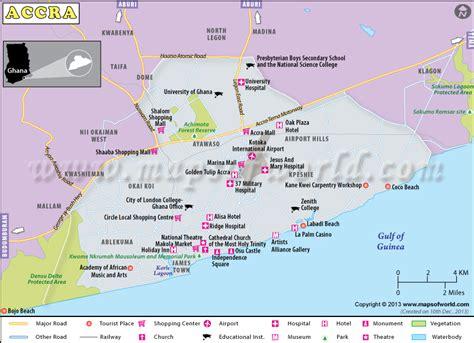 capital  ghana accra map capital city  ghana