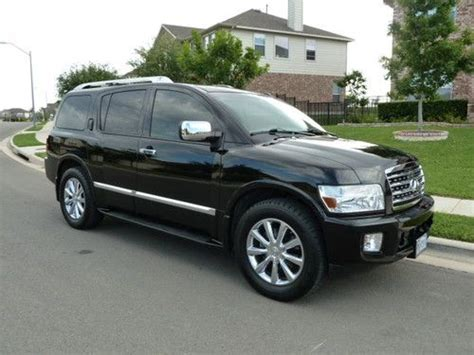infiniti qx56 black sell used infiniti qx56 black with gray leather only 60k