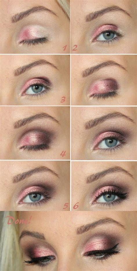 tutorial makeup eyeshadow pink 20 beautiful makeup tutorials for blue eyes pretty designs