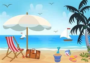 beach theme vector download free vector art stock