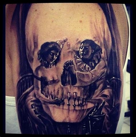 cool skull clown tattoo clowns pinterest cool