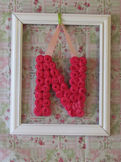 crepe paper flower letter      daughters
