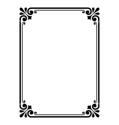 how to create a vector decorative frame in illustrator simple ornamental decorative frame vector 652257 by