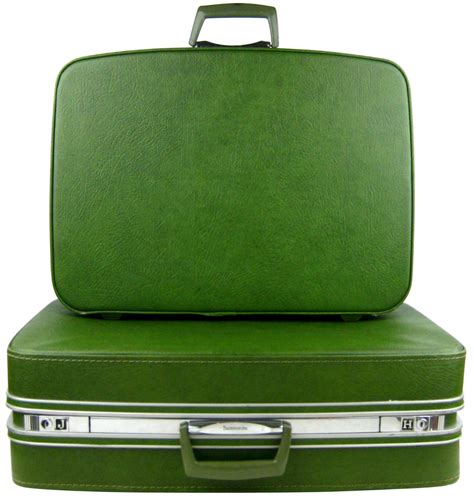Great Home Designs 1960s samsonite fashionaire two piece avocado green