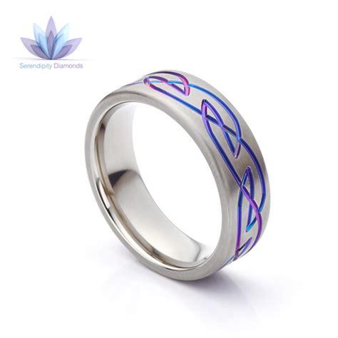 Wedding Ring Zirconium by Purple Wedding Rings Brightly Coloured Zirconium Bands