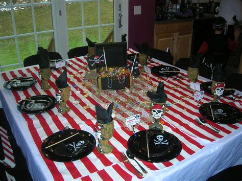 pirate themed table decorations pirate table photos