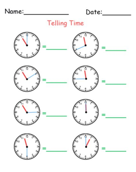 printable how to tell time sheets how to tell time printable worksheets
