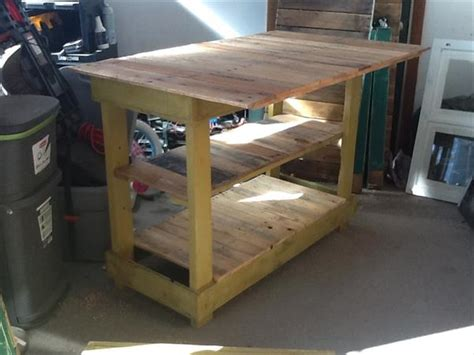 Kitchen Island Table Plans | diy pallet kitchen island table with stools pallet