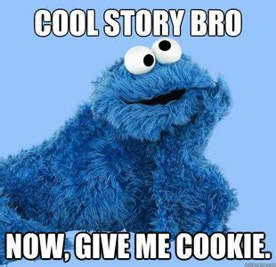Cookie Meme - condescending cookie monster memes quickmeme