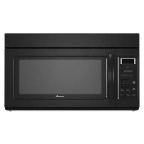 amana 1 7 cu ft the range microwave in black