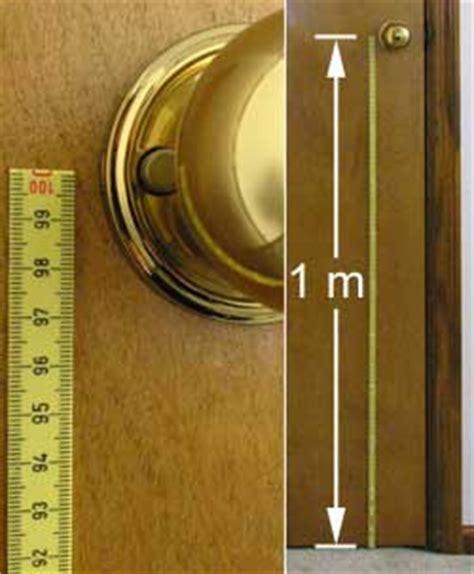 Distance From Floor To Door Knob - metric pioneer terran system