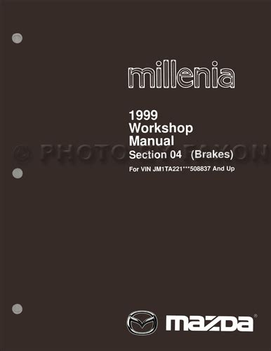 car repair manual download 2000 mazda millenia engine control 1999 mazda millenia brake repair shop manual original supplement