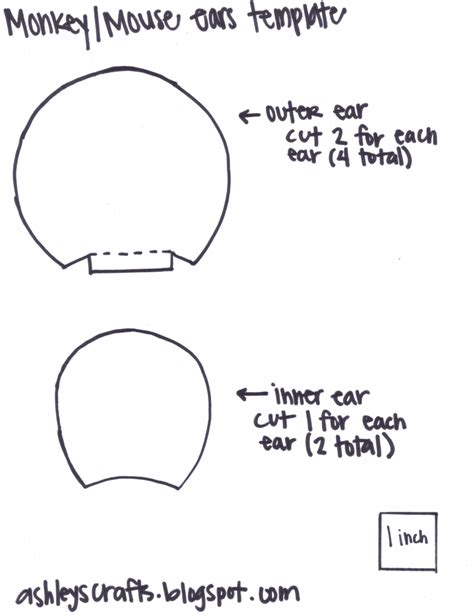 mouse ears template monkey mouse ears headband template projects