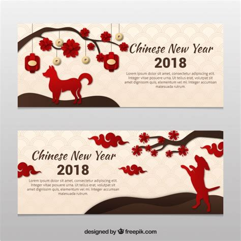 new year banner vector new year banner in paper style vector free
