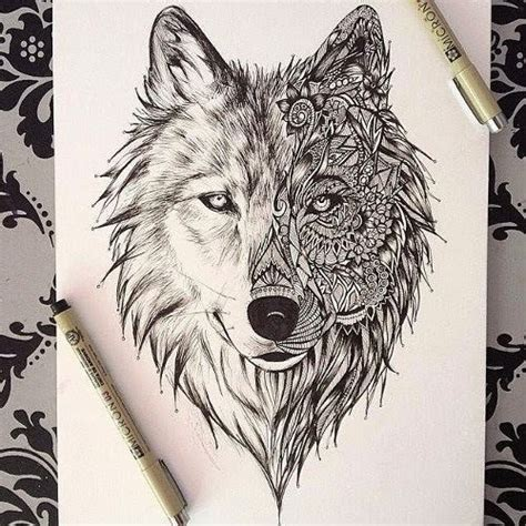 zentangle tattoo animal zentangle wolf tumblr