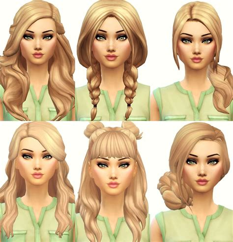 Sims 4 Maxis Match Hair | current favourite maxis match hair from left to right