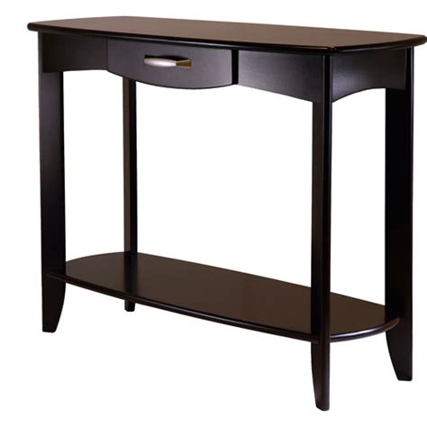 sofa tables at walmart danica console table espresso walmart com
