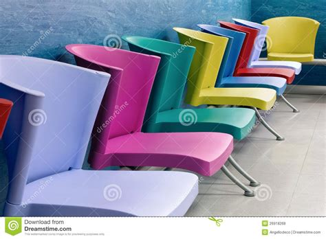 Colorful Chairs In A Waiting Room Royalty Free Stock