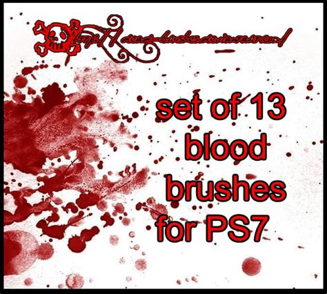 blood pattern brush photoshop blood brushes grunge photoshop brushes brushlovers com