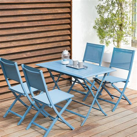 Tables De Balcon by Table De Balcon Pliante Rectangulaire Azua Bleu Orage