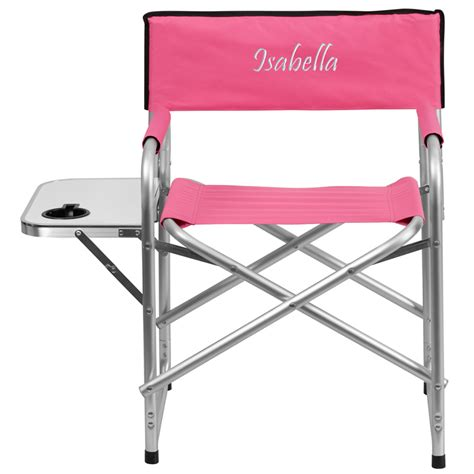 folding table with drink holders personalized aluminum folding cing chair with table and