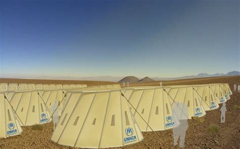 design brief of refugees shapeshifting shelters for refugees in hot and cold