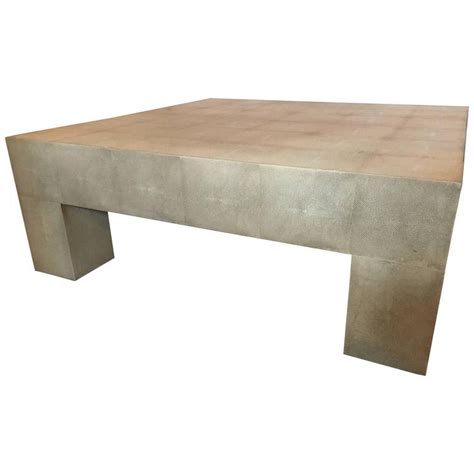 Coffee Table Linens Palatial Karl Springer Style Linen Wrapped Coffee Table For Sale At 1stdibs