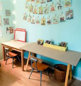 Diy Toddler Desk Kid Friendly Craft Studio On A Budget Handmade