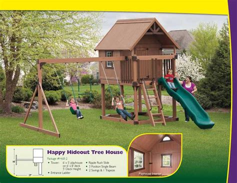 swing in the house outdoor home center swings playsets happy hideout