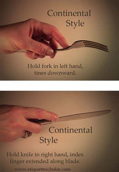 how to hold a fork and knife proper etiquette for using