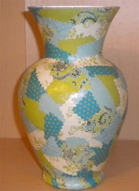 How To Decoupage A Vase - decoupage vase decoupage projects