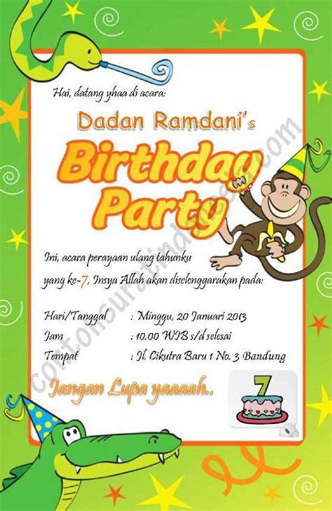 kartu undangan ulang tahun dalam b inggris souvenir