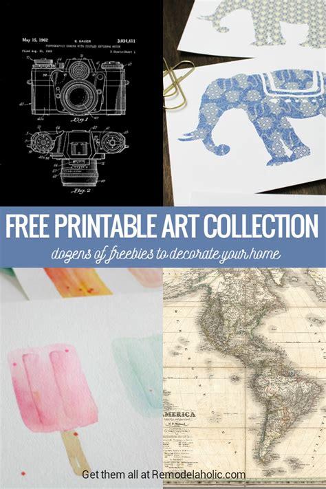 Printable Art Buy | remodelaholic free printable art collection
