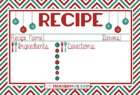 printable decorative recipe cards free holiday printables backgrounds more coffee with us 3
