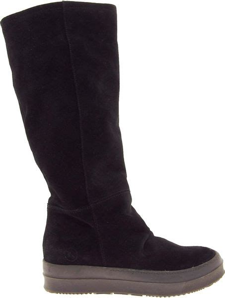 asos bronx flat suede black boots in black lyst