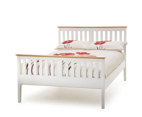 Christine 4ft Small Double High Footend White Bed Frame Small Wooden Bed Frame