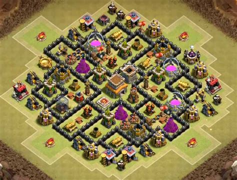 coc layout anti gowipe th8 top 12 best coc th8 war base anti hogs gowipe dragon