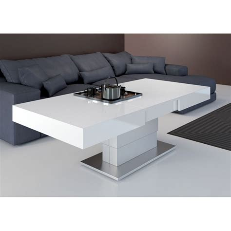 table de salon convertible table basse relevable ares fold