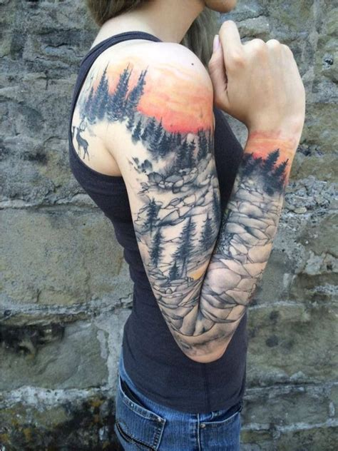 mountain landscape tattoo 50 mountain tattoos tattoofanblog