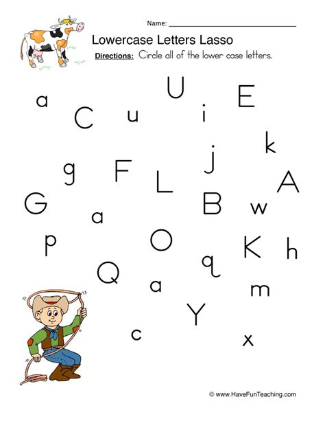 Alphabet Worksheets For Grade by Lowercase Letters Worksheet 1