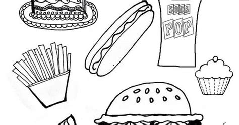 junk food 8 5 by11 coloring page by bingobuttercup via