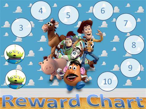 Printable Reward Charts Toy Story | toy story reward chart digital copy by nikkisinvitations