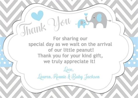 Baby Shower Thank You Note Wording by Baby Shower Thank You Notes Sle Letter Wording