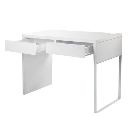 Buy Office Computer Desk Table W Drawers White Online At White Office Desk With Drawers