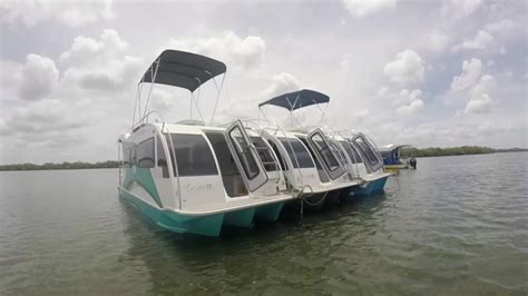 boat home trailerable houseboat boat a home day out youtube