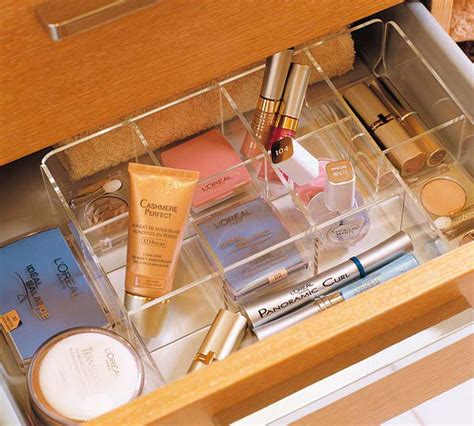 Makeup Compartments For Drawers by Picture Of Makeup Storage In Drawer Compartments