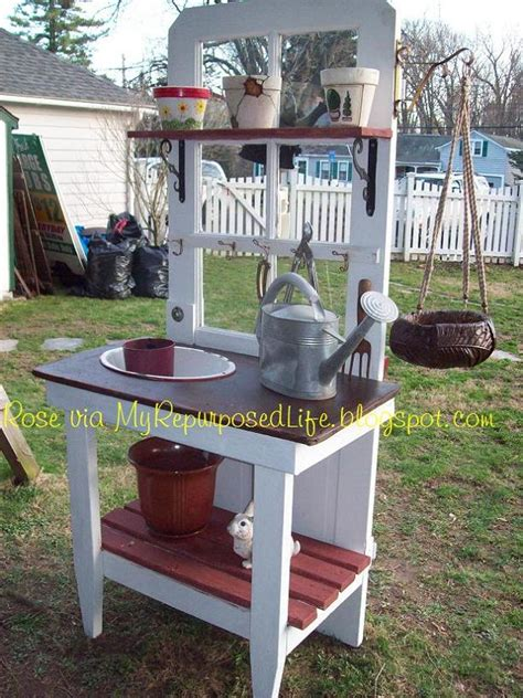 old door potting bench 18 creative and cool ways to reuse old doors